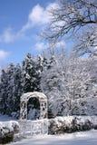 Jardín en invierno Fotos de archivo libres de regalías