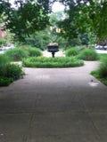 Jardín en la ciudad de Baltimore fotografía de archivo