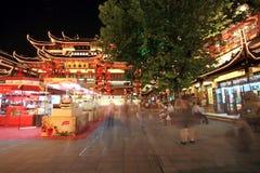 Jardín en la noche, Shangai, China de Yuyuan Imagen de archivo libre de regalías