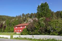 Jardín en un pequeño pueblo Imagen de archivo libre de regalías