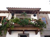 Jardín espléndido en un balcón Imágenes de archivo libres de regalías