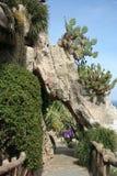 Jardín exótico en Mónaco Imágenes de archivo libres de regalías