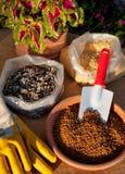 Jardín-fertilizante Fotografía de archivo