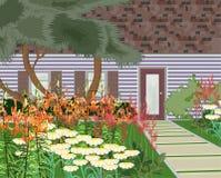 Jardín floreciente libre illustration