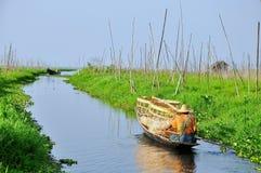 Jardín flotante en Myanmar Fotos de archivo