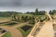 Jardín formal en la casa de Osborne Foto de archivo