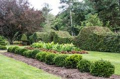 Jardín formal en Schoepfle Fotos de archivo