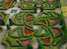 Jardín formal - Loire Valley - Francia fotografía de archivo