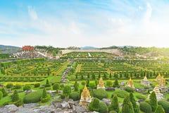 Jardín francés de Nong Nooch Tailandia Imágenes de archivo libres de regalías