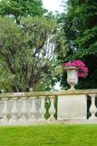 Jardín francés del estilo, Jardin du Luxemburgo Fotografía de archivo