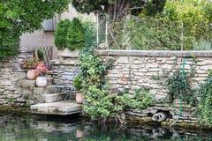 Jardín francés en Provence fotografía de archivo