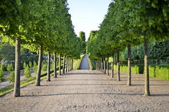 Jardín hermoso alrededor del castillo de Frederiksborg foto de archivo libre de regalías