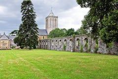 Jardín histórico de la abadía en lucerne Fotos de archivo