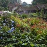 Jardín inglés típico Foto de archivo libre de regalías