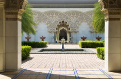Jardín interno de la configuración marroquí Fotos de archivo libres de regalías