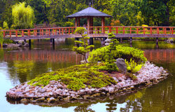 Jardín japonés Fotos de archivo