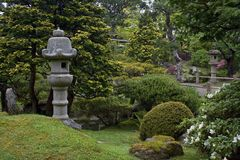 Jardín japonés agradable imágenes de archivo libres de regalías