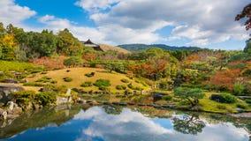 Jardín japonés Autumn Landscape Foto de archivo