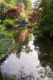 Jardín japonés con la reflexión Imagen de archivo libre de regalías