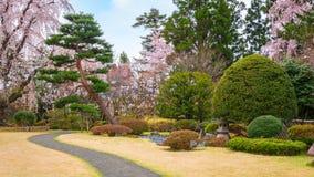 Jardín japonés conmemorativo de Fujita en Hirosaki, Japón imagenes de archivo