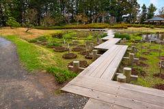 Jardín japonés conmemorativo de Fujita en Hirosaki, Japón imagen de archivo
