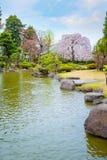 Jardín japonés conmemorativo de Fujita en Hirosaki, Japón imagen de archivo libre de regalías