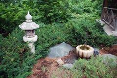 Jardín japonés de relajación Foto de archivo libre de regalías