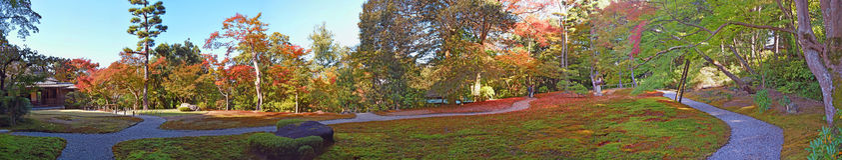 Jardín japonés de Yoshikien, Nara, Japón Fotografía de archivo libre de regalías