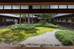 Jardín japonés en el chalet imperial de Tamozawa en Nikko Imágenes de archivo libres de regalías