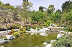 Jardín japonés en el parque del balboa, San Diego Imagen de archivo