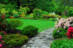 Jardín japonés en jardines del butchart Foto de archivo