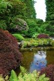 Jardín japonés en jardines del butchart Imagen de archivo