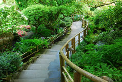Jardín japonés en jardines del butchart Imagenes de archivo