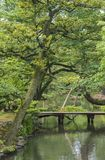 Jardín japonés en Kanazawa, Japón Imagen de archivo