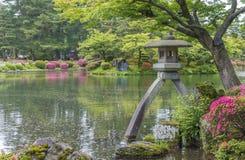 Jardín japonés en Kanazawa, Japón Foto de archivo