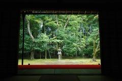 Jardín japonés en Kyoto, Japón Imagen de archivo libre de regalías