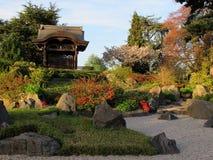 Jardín japonés en Londres Imágenes de archivo libres de regalías