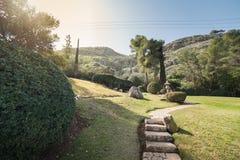 Jardín japonés en los kibutz Hephzibah Foto de archivo libre de regalías