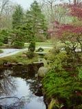 Jardín japonés en resorte Imágenes de archivo libres de regalías