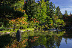 Jardín japonés Zen Lake de Seattle Imagenes de archivo
