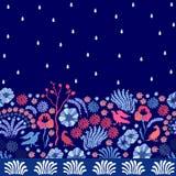 Jardín mágico de la noche Imagen de archivo libre de regalías