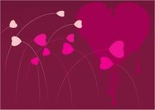Jardín mínimo de la tarjeta del día de San Valentín Imágenes de archivo libres de regalías