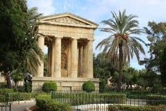 Jardín Malta del templo Imagen de archivo
