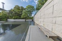 Jardín moderno en Kanazawa, Japón Imágenes de archivo libres de regalías