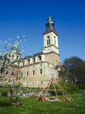 Jardín ocultado de la abadía del ` s de San Pedro en Gante Fotografía de archivo libre de regalías