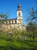 Jardín ocultado de la abadía del ` s de San Pedro en Gante Foto de archivo libre de regalías