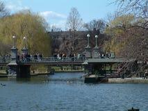 Jardín público 1 de Boston fotografía de archivo libre de regalías