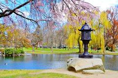 Jardín público de Boston imagenes de archivo
