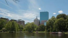 Jardín público de Boston del lapso de tiempo almacen de video