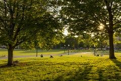 Jardín público de Boston en Massachusetts, los E.E.U.U. Imágenes de archivo libres de regalías